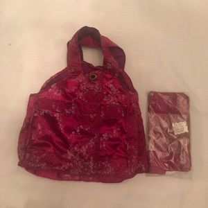 Handbags - FINAL PRICE Chinese Silk Tote and Cosmetic Case
